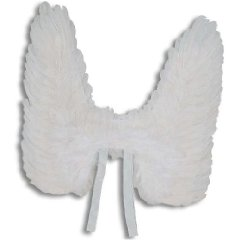 Engelsflügel weiss mit Federn ca. 50 cm