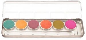 Duo-Chr Supracolor Interferenz Make-up Palette 6 Farben