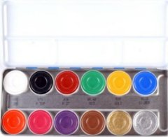SN Kryolan 12 Farben Aquacolor Schminkpalette 12er