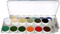Kryolan 24x80g Aquacolor Schminkpalette 24er Palette