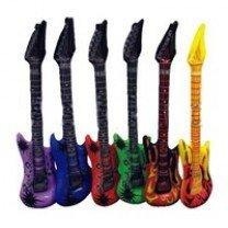 Aufblasbare Gitarre - Luftgitarre PVC, blau