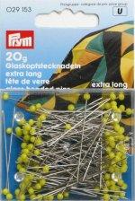 Prym 029153 Glaskopfnadeln Nr. 1 gelb 0,60 x 43 mm 20g