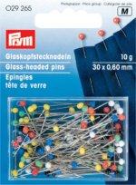 Prym 029265 Glaskopfnadeln ST 9 bunt 0,60 x 30 mm 10g