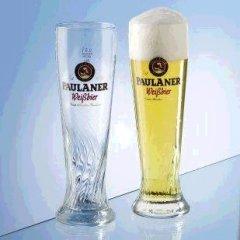 Paulaner Gläser Set 6er 6x0,5L Weizenbiergläser mit Eichstrich