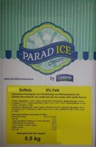 Softeis Mix Vanille 5,5 KG flüssig mit 5% Fett Heideblume Softeismix