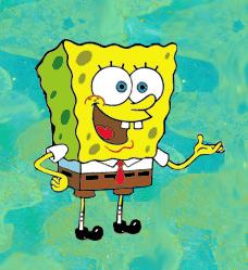 SpongeBob - Schwammkopf Button ca. 5,5cm NEU pcsbs