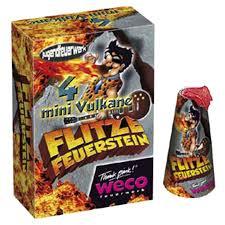 Weco Flitze Feuerstein 4er Mini Vulkane