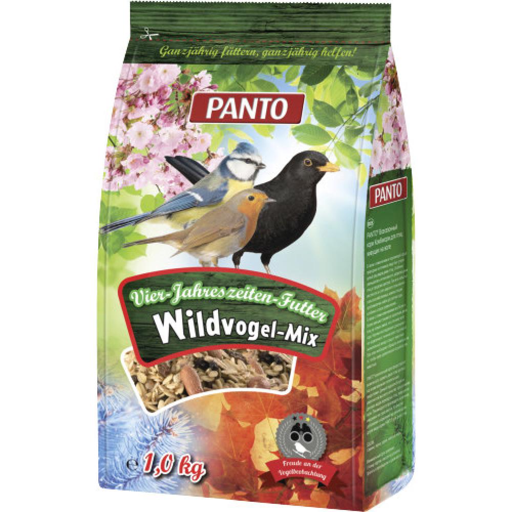 Panto 1KG Vier-Jahreszeitenfutter Wildvogel-Mix Vogelfutter