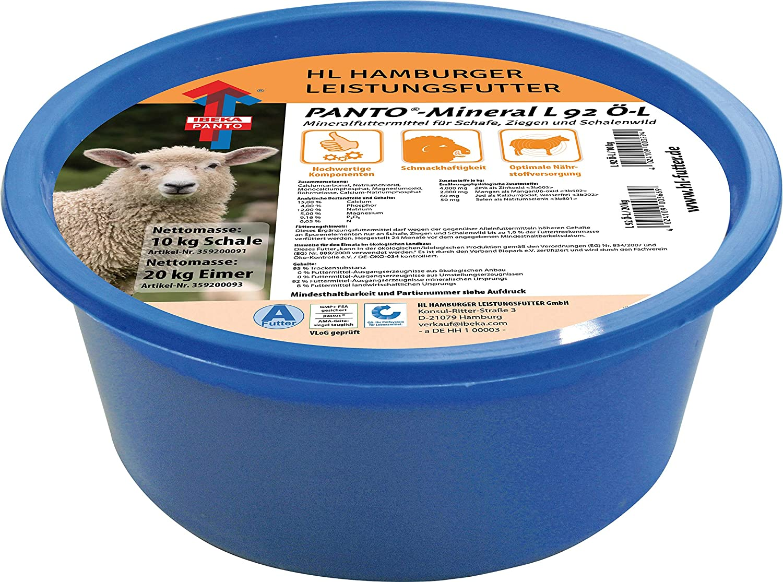 10KG Panto Leckschale Leckmasse für Schafe L 92 OE-L Ziegen Wild