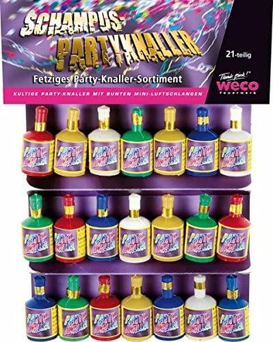 Weco 2 x 21 Stück Schampus Party Knaller Partyknaller Luftschlangen Auswurf