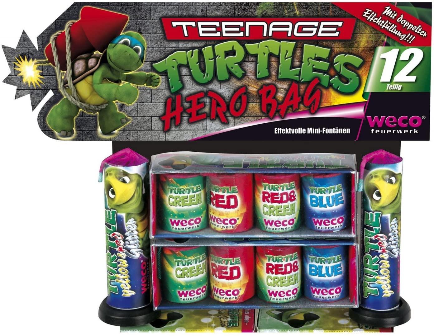 Weco Dino Hero Bag Turtles Ganzjahres-Jungendfreies-Feuerwerk