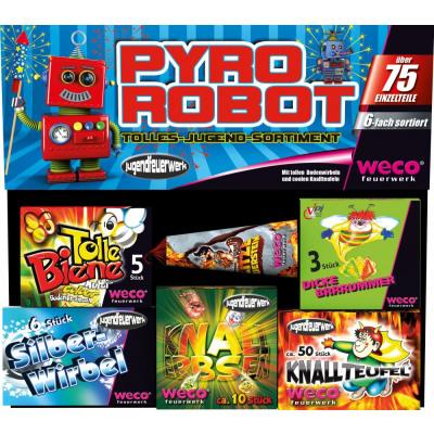 Weco Pyro Robot ca. 75 Teile Ganzjahres-Jungendfreies-Feuerwerk