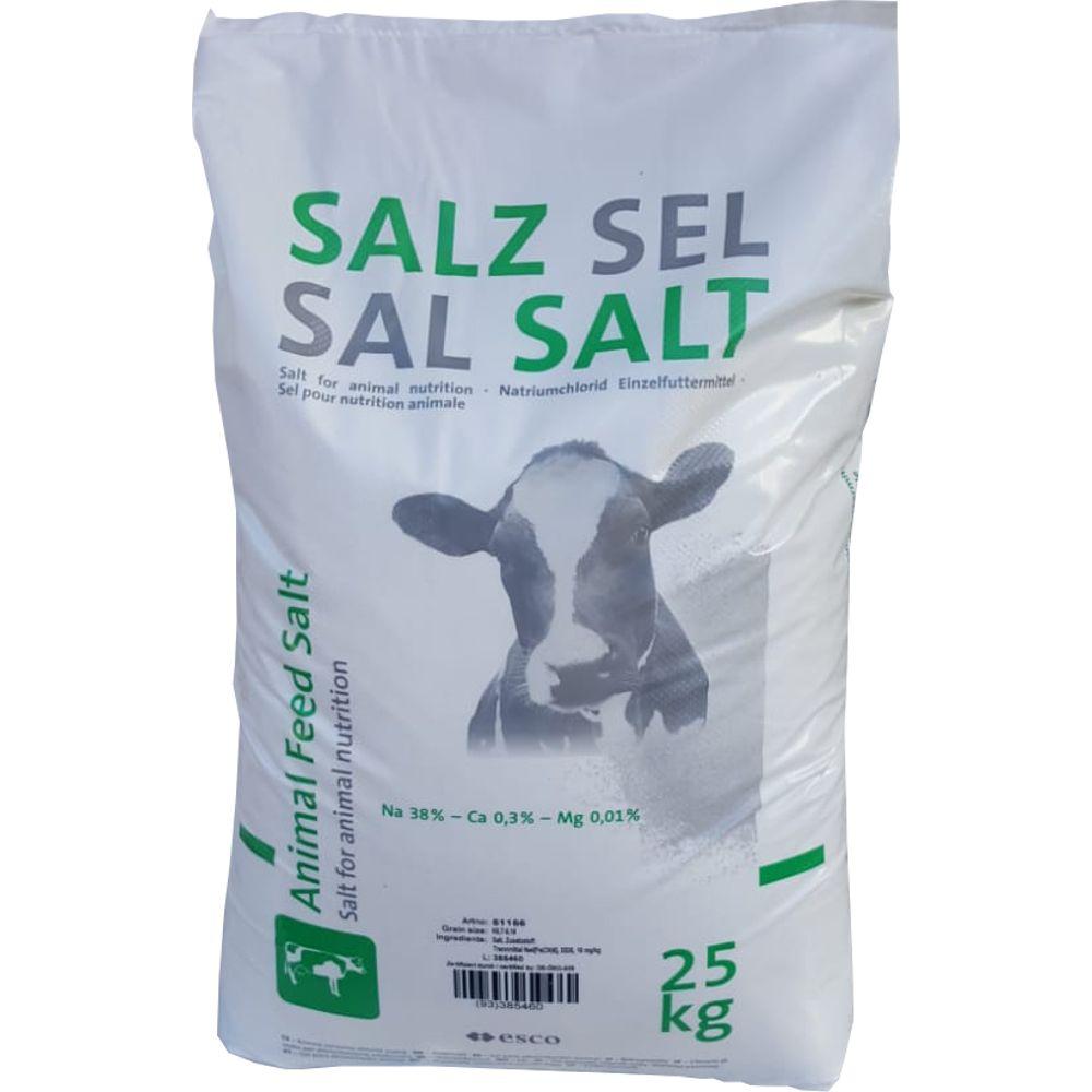 25KG Viehsalz Futtersalz Schafe Ziegen Rinder Kühe Pferde Wild Salz Streusalz