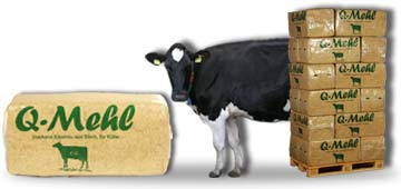 Q-Mehl ca. 22KG - Einstreu Kuh Kälber Rinder Bullen Cordes Grasberg